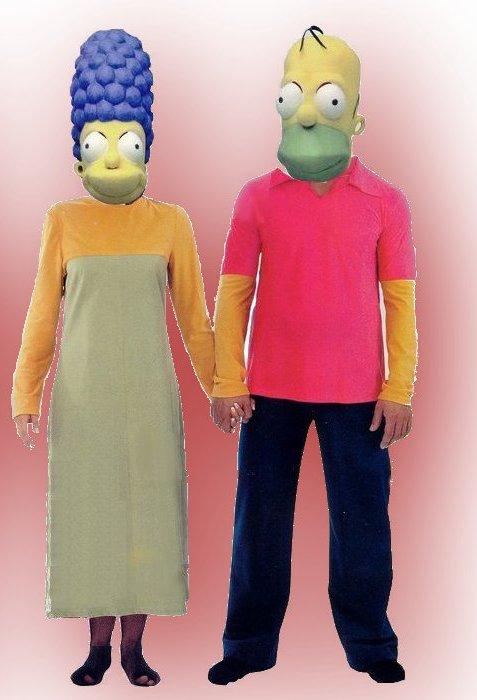Homer e marge simpson noleggio costumi abiti d epoca