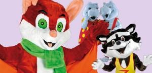 mascotte animali selvatici