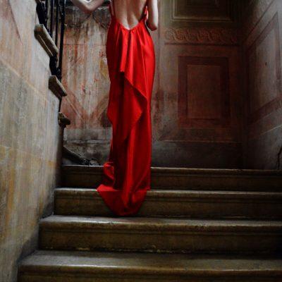abito sera rosso