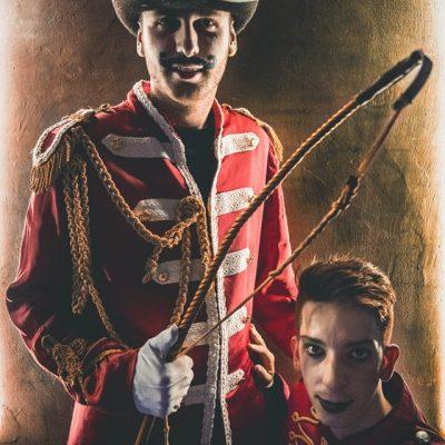 I costumi di Falpalà a tema circo per il Circus Beat Club di Brescia