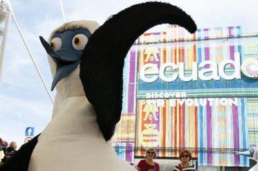 Boobie la mascotte Ecuador di EXPO