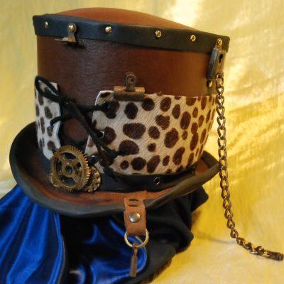 Cilindro pelle leopardo
