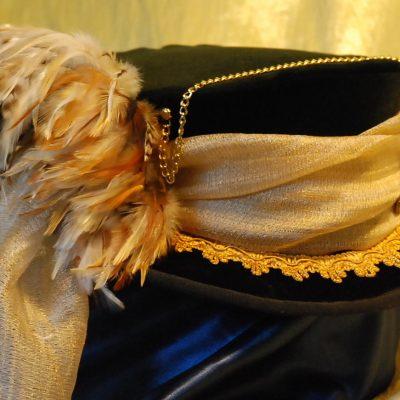 Cappello donna nero piume