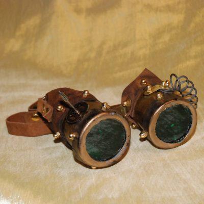 Occhiali larghi lente verde